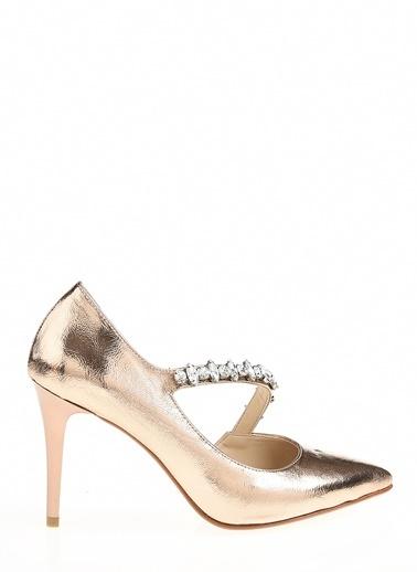 D by Divarese Topuklu Ayakkabı Altın